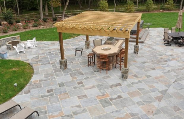 Building An Exposed Aggregate Concrete Patio In 5 Steps